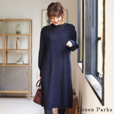 Green Parks 麻花針織連身洋裝