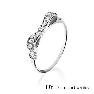 DY Diamond 大亞鑽石 L.Y.A輕珠寶 18K白金 蝴蝶結鑽石線戒