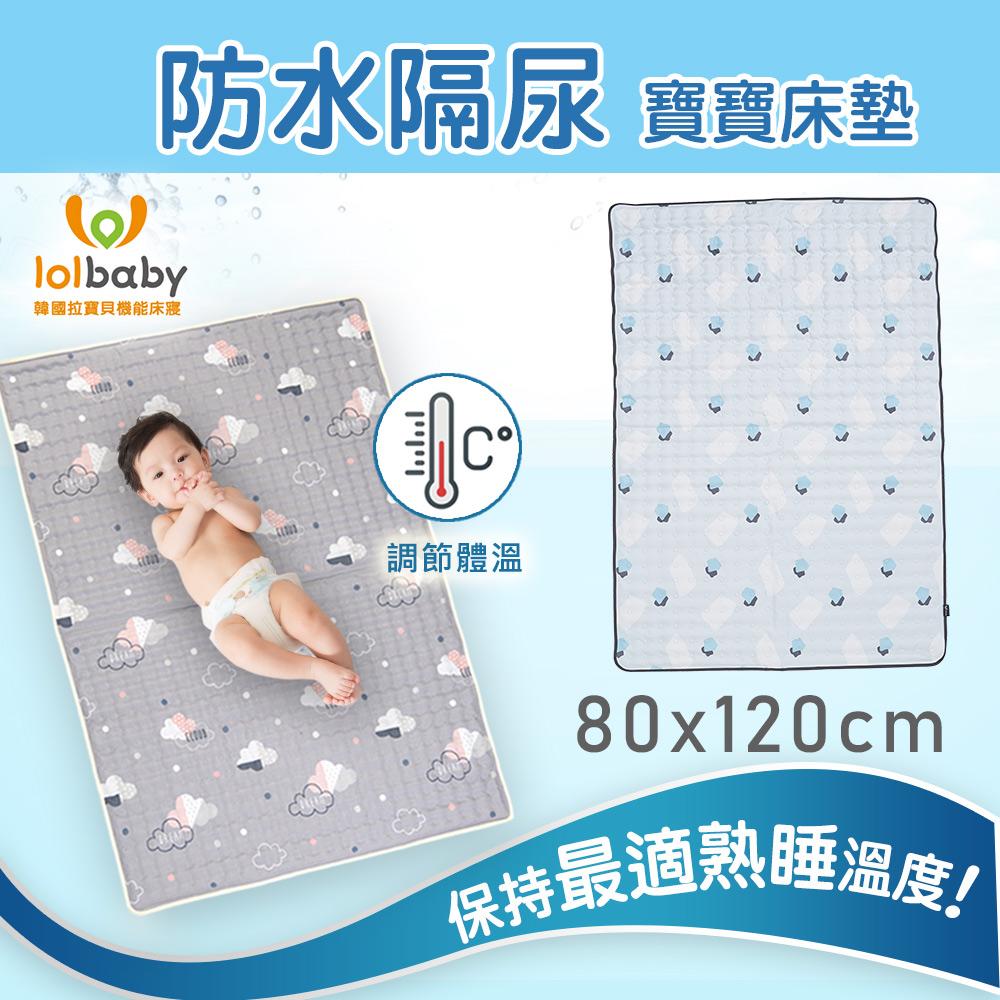 【韓國Lolbaby】Hi Jell-O涼感蒟蒻床墊加大_防水格尿款_嬰兒兒童床墊(水湖塗鴉)