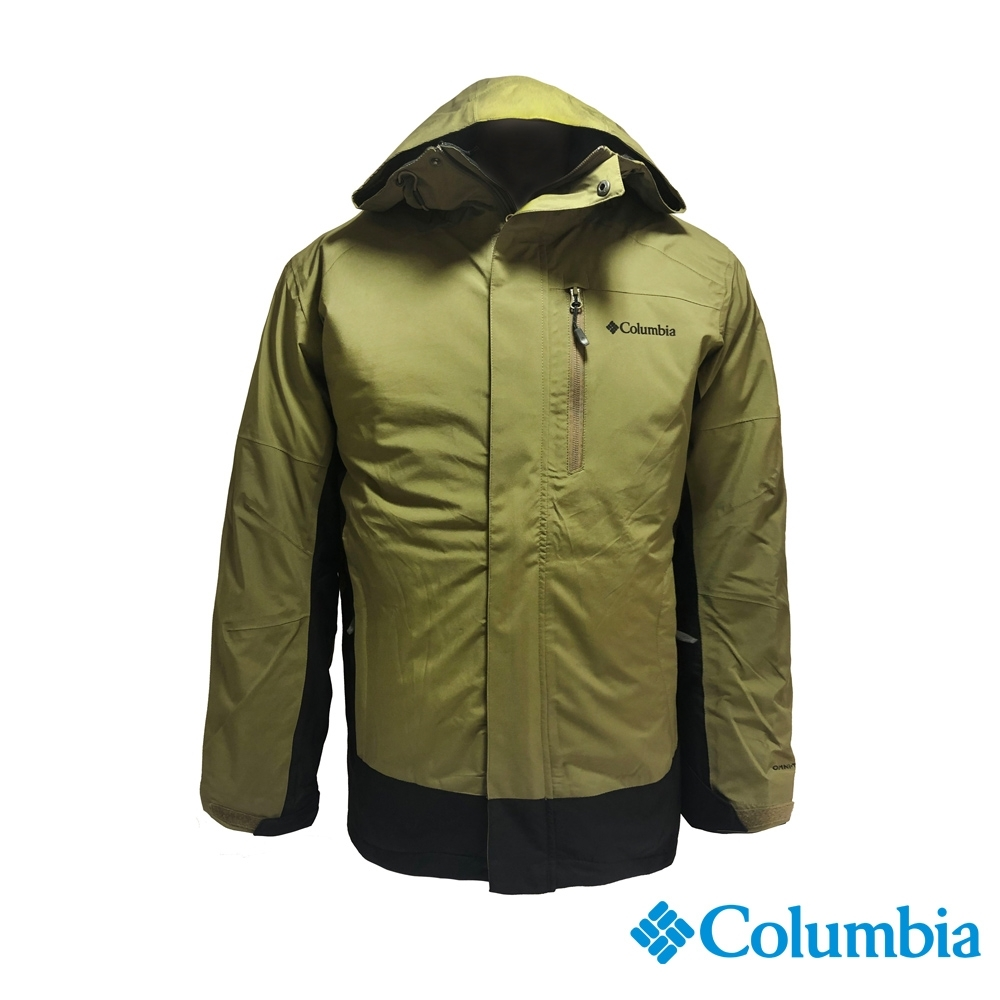Columbia 哥倫比亞 男款- Omni TECH防水鋁點保暖外套-軍綠