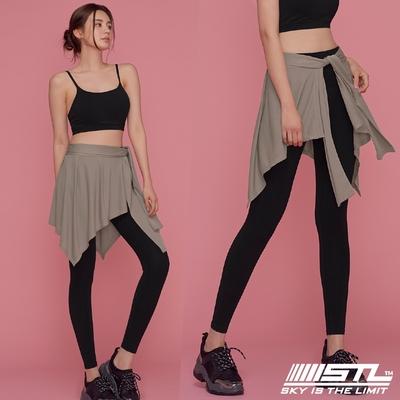 STL yoga 韓國瑜珈 HIP COVER 運動機能一片式綁帶外罩裙 拿鐵咖啡Hazelnut