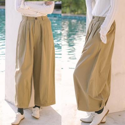 休閒褲-全棉寬鬆直筒長褲棉麻寬管-設計所在