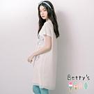 betty's貝蒂思 開襟雪紡外罩+素面長版上衣(米白)