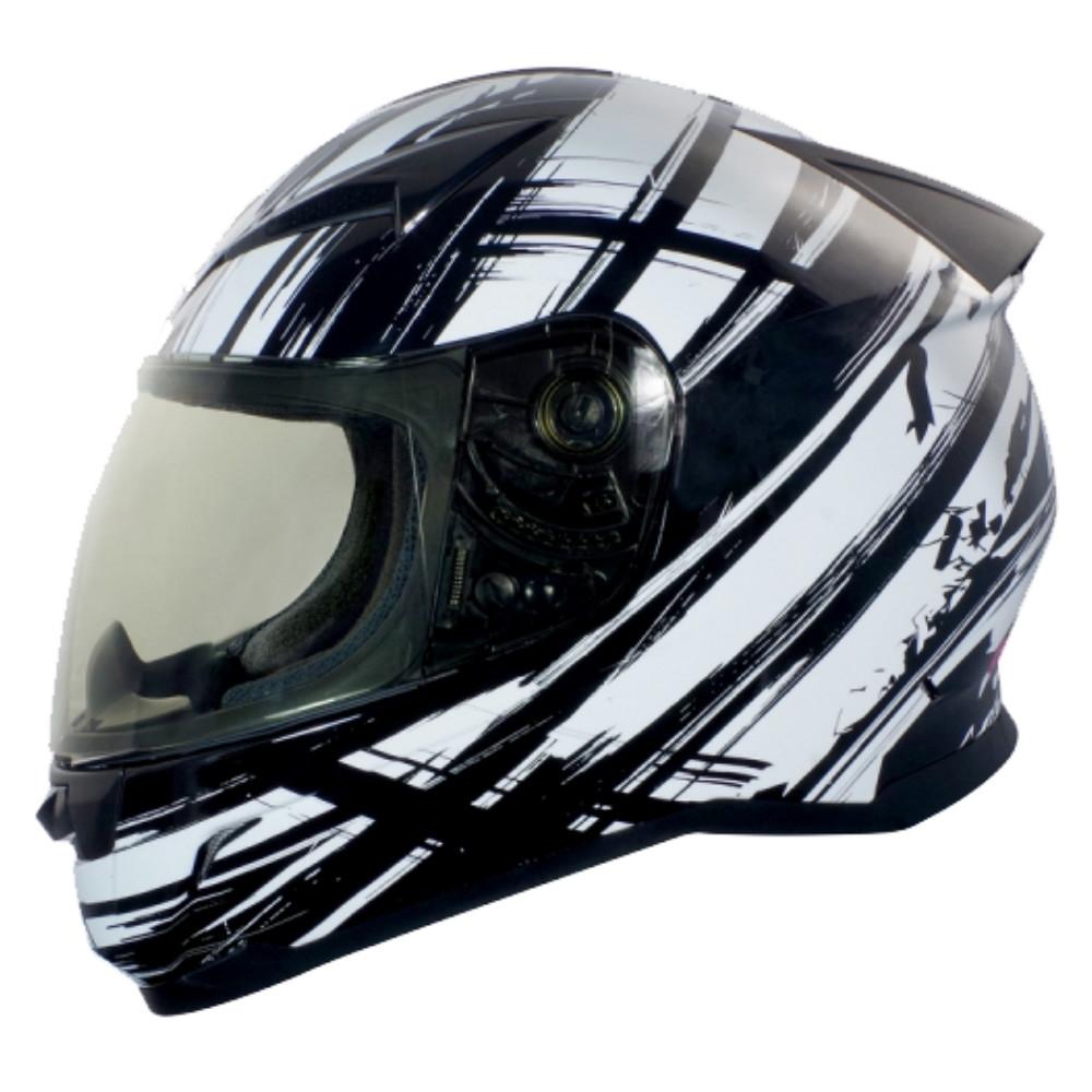 【GP-5】 極限運動 全罩安全帽│抗菌│機車│內襯│抗UV鏡片│GOGORO│G1 (黑白)