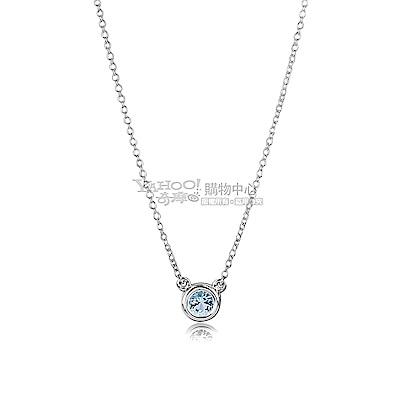 TIFFANY&Co. Elsa Peretti 0.13克拉圓形海藍寶石純銀項鍊 @ Y!購物