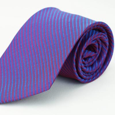 Alpaca 紅紫斜紋領帶