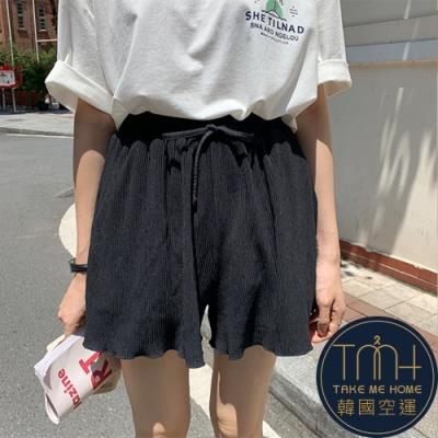 韓國空運 飄逸感軟質彈性短褲-2色-TMH