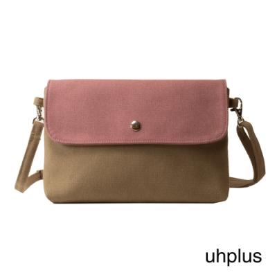 uhplus 純粹輕感斜背包-褐粉