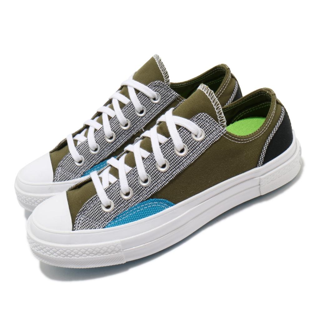 Converse 休閒鞋 All Star 低筒 穿搭 男女鞋 基本款 簡約 帆布 拼接 情侶鞋 綠 白 168700C