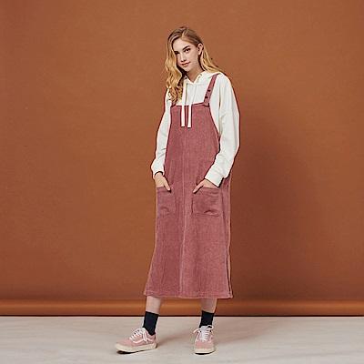CACO-燈心絨長版吊帶裙-(兩色)-女【RSH065】