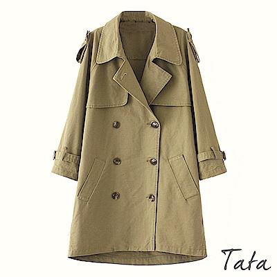 八分袖中長版風衣外套 TATA