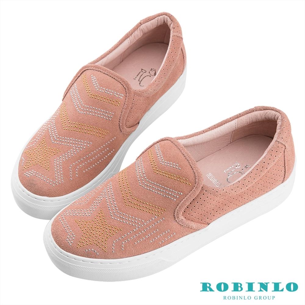 Robinlo魔幻星星趣味平底休閒鞋 粉色