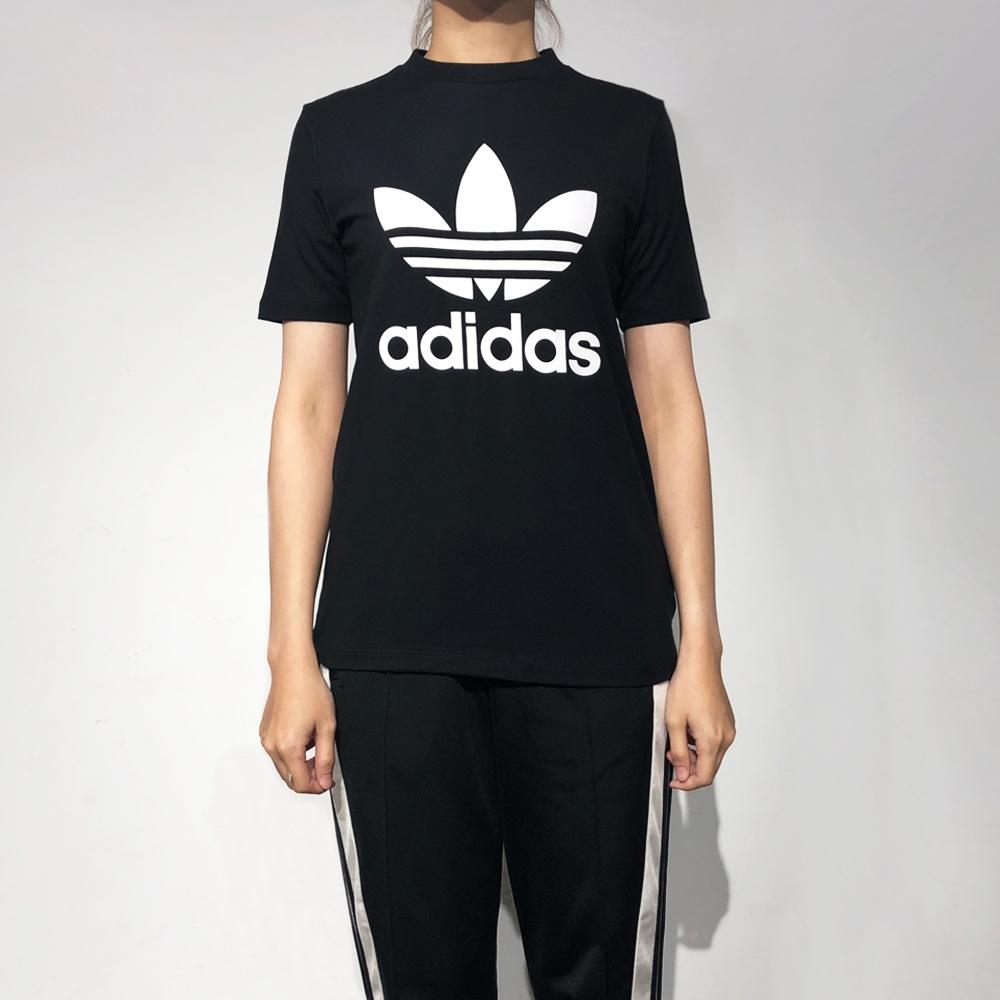 ADIDAS TREFOIL TEE 女短袖上衣-黑-CV9888