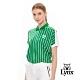 【Lynx Golf】女款吸汗速乾涼感舒適寬版棒球條紋服短袖POLO衫-綠色 product thumbnail 2