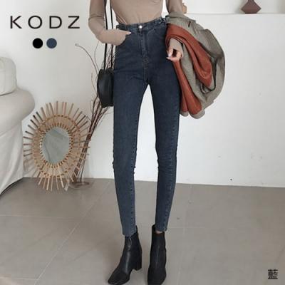 東京著衣-KODZ 韓版時尚雙環設計修身鉛筆褲/牛仔褲-M.L