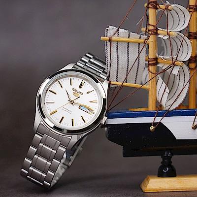 SEIKO 精工五號  5號盾牌日曆機械錶(SNKM43J1)