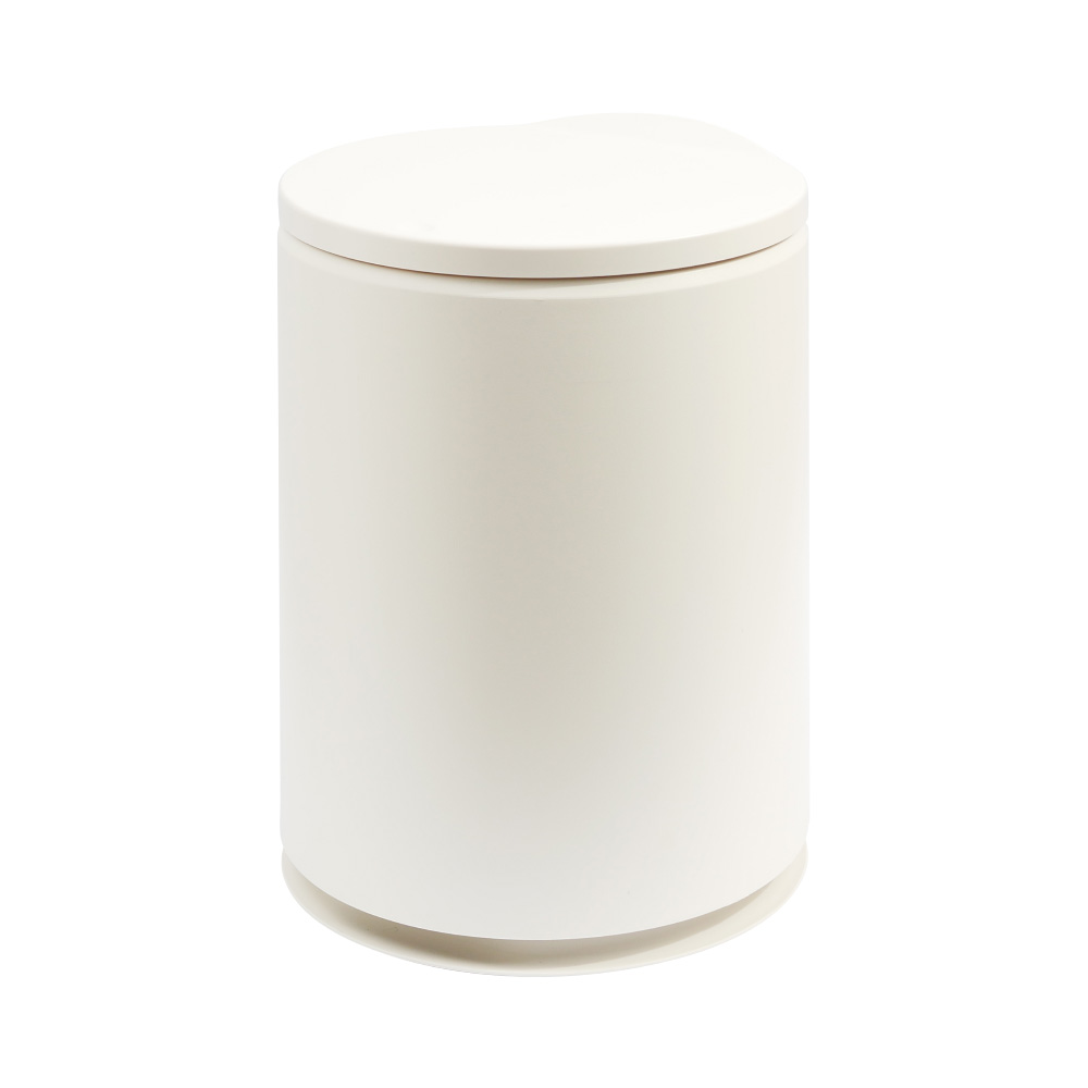 TRENY 日式圓形垃圾桶 -白