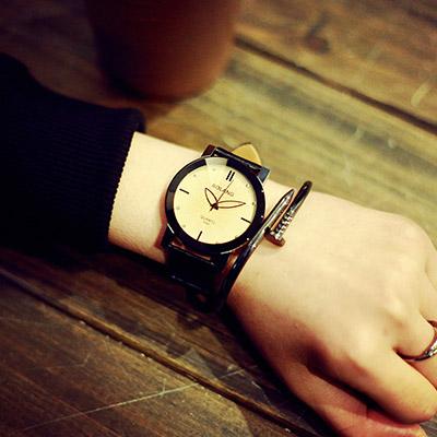 watch-123 極品男友-可愛指針創意個性情侶手錶