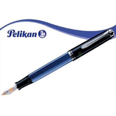 德國PELIKAN百利金 M805 黑藍條紋鋼筆