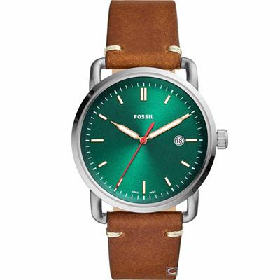 FOSSIL COMMUTER  三指針日期顯示革手錶(FS5540)42mm