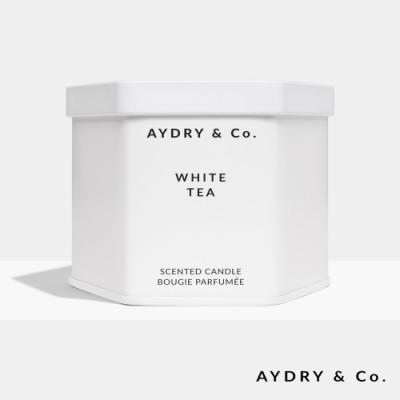 美國 AYDRY & CO. 白茶 天然手工香氛 極簡純白錫罐 212g