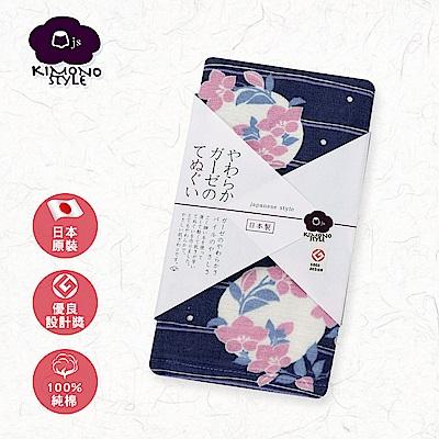 【日纖】日本泉州純棉長巾-夜桔梗 34x90cm