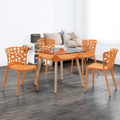 MUNA 蕾妮雅休閒椅/餐椅(共兩色)(4入) 49X55X83cm