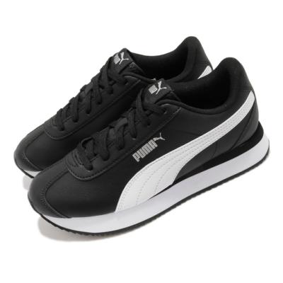 Puma 休閒鞋 Turino Stacked 運動 女鞋 基本款 舒適 簡約 皮革 質感 穿搭 黑 白 37111509