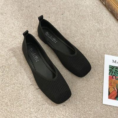 韓國KW美鞋館 柔美愛戀針織淑女鞋-黑