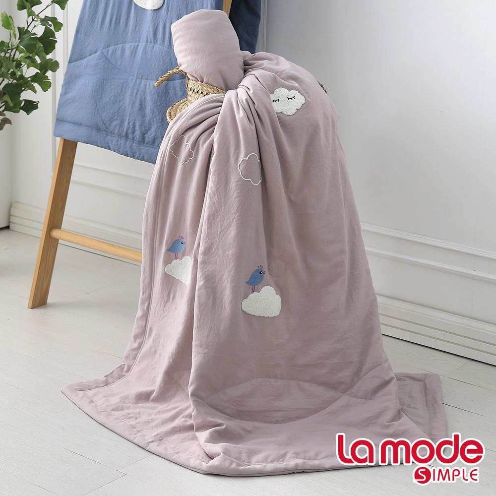 La Mode寢飾 森呼吸輕感綿單人涼被(藕粉色) @ Y!購物