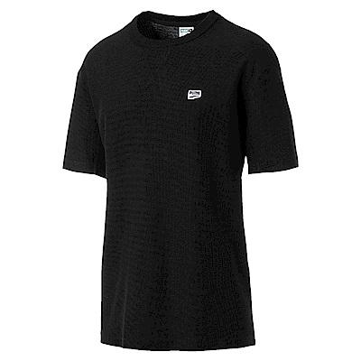 PUMA-男性流行系列Downtown短袖T恤-黑色-歐規