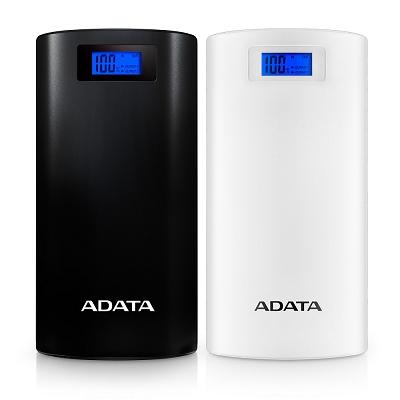 ADATA 威剛 P 20000 D 行動電源  20000 mAh(額定容量 12400 mAh)