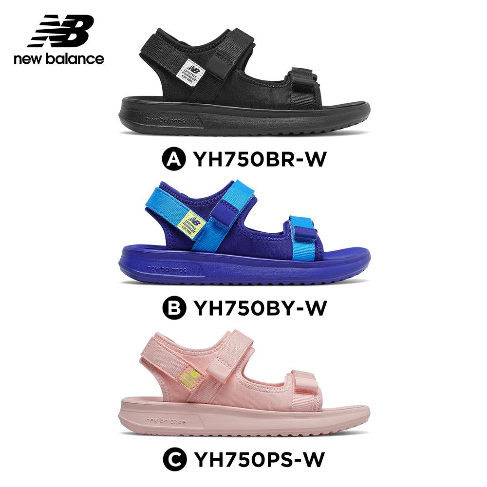 【New Balance】涼拖鞋/童鞋_中性_黑色/藍色/粉橘色