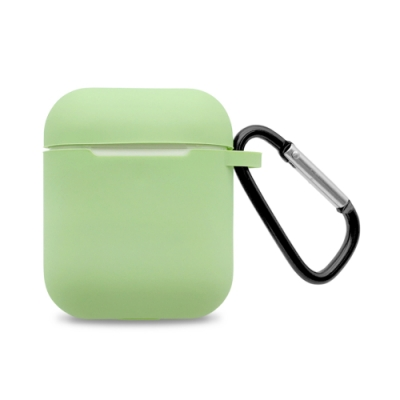 AirPods 純色矽膠保護套 附扣環