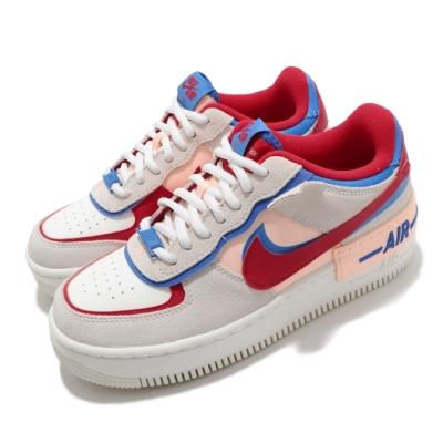 Nike 休閒鞋 AF1 Shadow 運動 女鞋 經典款 厚底 舒適 簡約 穿搭 球鞋 白 藍 紅 CU8591100
