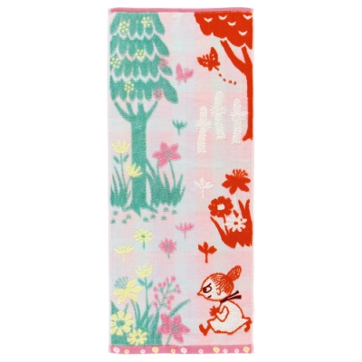 日本丸真 Moomin 毛巾-小不點田野裡玩耍
