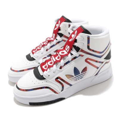 adidas 休閒鞋 Drop Step XL 高筒 男鞋 愛迪達 三葉草 中國新年 CNY 穿搭 白 紅 Q47200