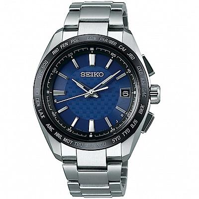 SEIKO 精工 BRIGHTZ 鈦金屬太陽能電波腕錶(SAGZ089J)-藍