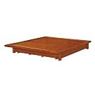 綠活居 潘斯6尺實木雙人加大後掀床底(掀式床板+收納空間)-187x195x27cm免組