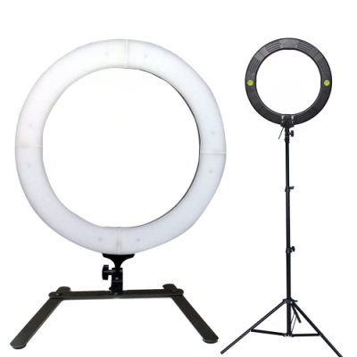 YADATEK 18吋可調色溫超薄LED環形攝影燈(YR-800A)送210cm燈架