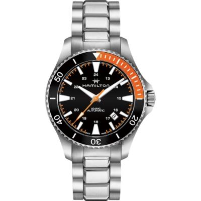Hamilton 漢米爾頓 KHAKI NAVY 卡其海軍潛水機械錶-黑/40mm
