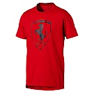 PUMA-男性法拉利經典系列夏天大盾短袖T恤-法拉利紅-歐規