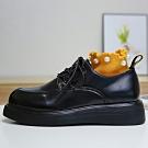 韓國KW美鞋館 大氣歐美風格厚底松糕鞋-黑