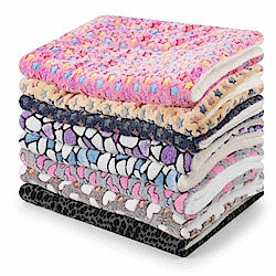 dyy》珊瑚絨毛星星寵物毯睡墊-XL號100*75cm