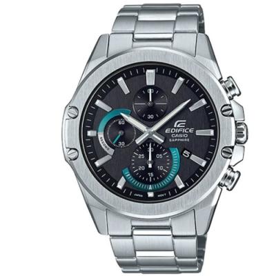 EDIFICE 混色搭配藍寶石玻璃鏡面不鏽鋼錶-綠(EFR-S567D-1A)/45.6
