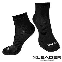 LEADER 運動專用薄型除臭機能襪 男款(黑色)