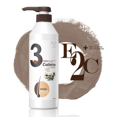 E2C美肌殿堂 辣木子3號淨化頭皮洗髮精600ml (咖啡因 啡洗不可系列)-快