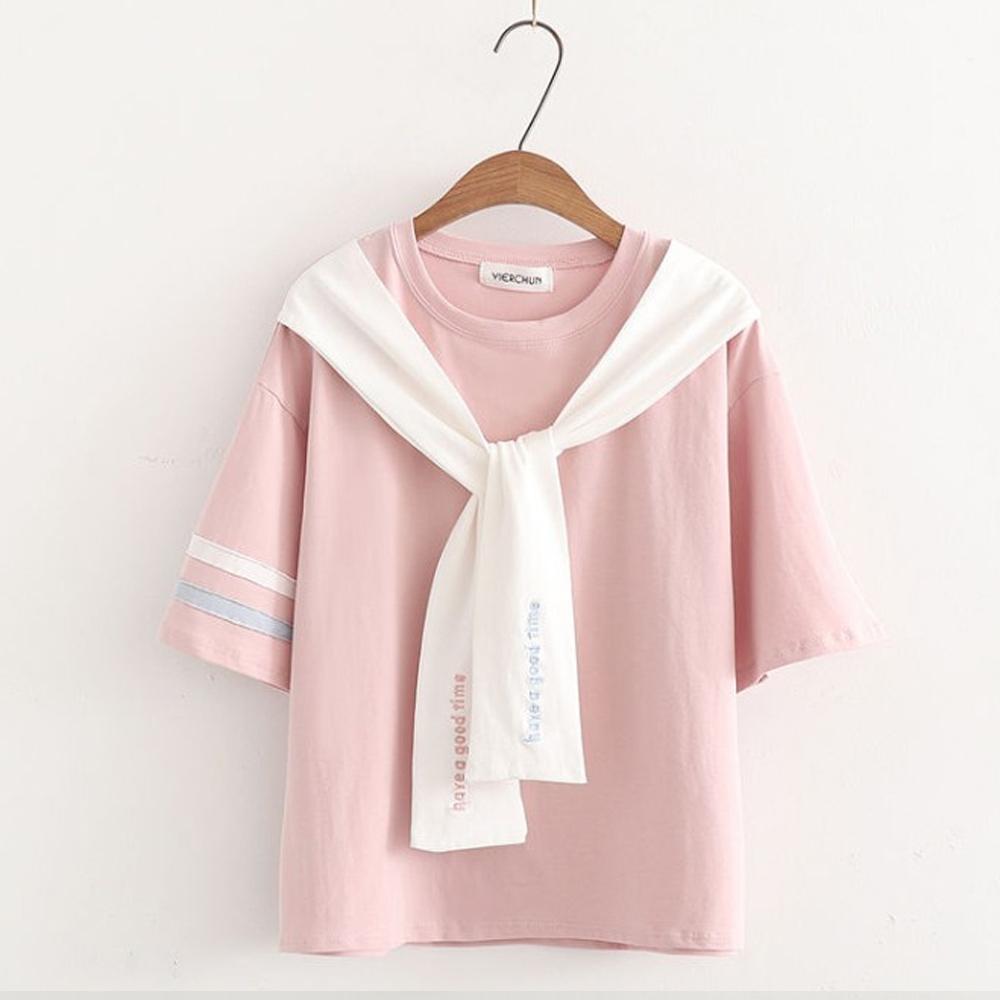 SUPER COLOR 經典海洋學院風格短袖棉質上衣