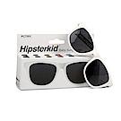 美國Hipsterkid 抗UV偏光時尚嬰幼兒童太陽眼鏡(附固定繩) - 白
