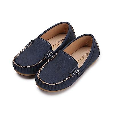 BuyGlasses 素面質感兒童樂福鞋-藍